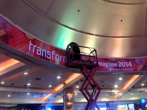 benmarks: Magento is literally transforming the Hard Rock Casino for #MagentoImagine! http://t.co/gzbNGzVez8