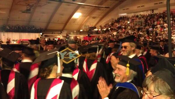 Great moment as @SMUNews applauds its new #graduates entering #commencement #smugrads2014 #college #smufuturesaint http://t.co/NQBPxqmMe0