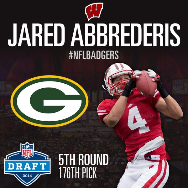 Jared Abbrederis is a Packer! Congrats to @abbrecadabra on heading to @packers in #NFLDraft #NFLBadgers http://t.co/YRDGzjPErS