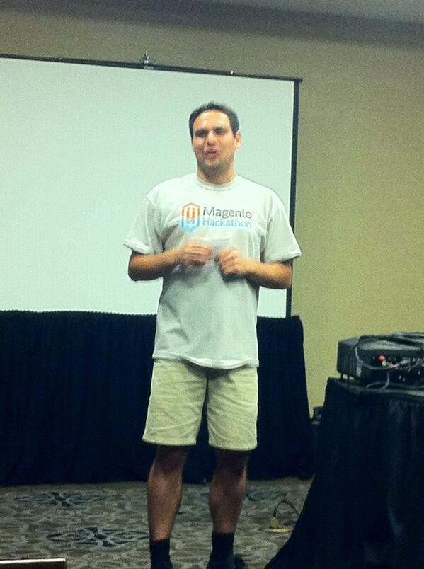 allanmacgregor: Hackthon officially getting started #MagentoImagine http://t.co/QXPuB7z64P