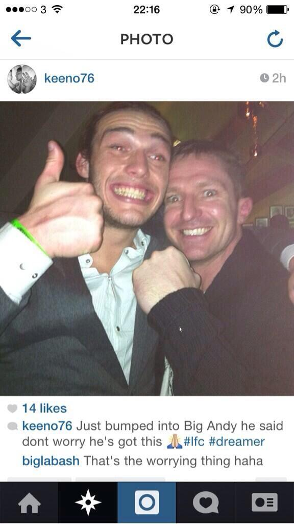 West Hams Andy Carroll tells Liverpool fan Ive got this ahead of Man City game [Picture]