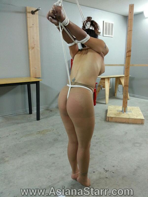 Crotch rope panty bondage