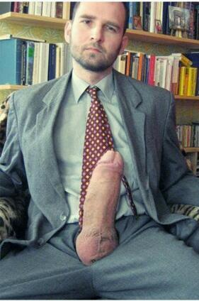 Necessary phrase... Suit and tie cum think, that