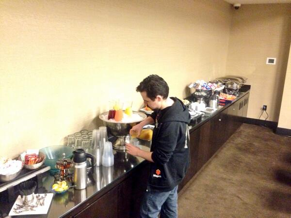 benmarks: Breakfast is served at the #MagentoImagine Hackathon! http://t.co/EHH0l6cBNo