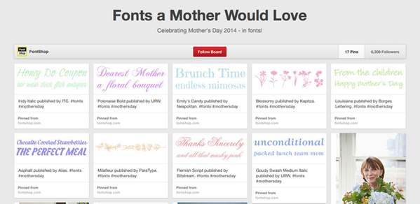 Pinterested: #Fonts a Mother Would Love via @FontShop http://t.co/Z5pENxIrdP http://t.co/ZIepDT2lSO