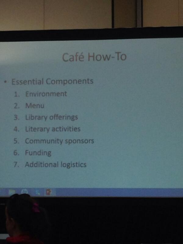Café culture essential components #ira14 http://t.co/DMMYHZo73L