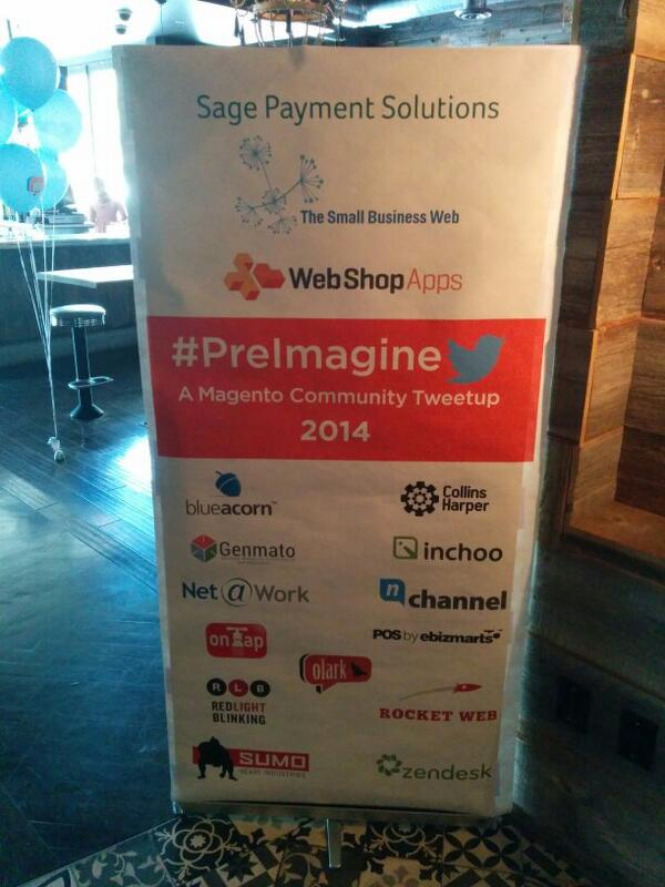 vkerkhoff: #PreImagine 2014 almost ready to start at the Culinary Dropout. #MagentoImagine #Imagine2014 http://t.co/8SUztXHSKQ