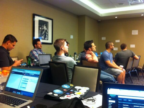allanmacgregor: Amazing  #MagentoImagine  hackathon @benmarks @fbrnc @philwinkle @LeeSaferite even a surprise guest @alanstorm http://t.co/652J5J3IjC