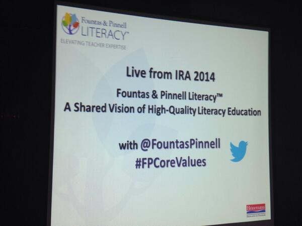 Live chat from #IRA14 at 6pm(CDT) on #FPCoreValues–Join the conversation on a shared vision of high-quality lit. ed. http://t.co/cHk8PAhY49