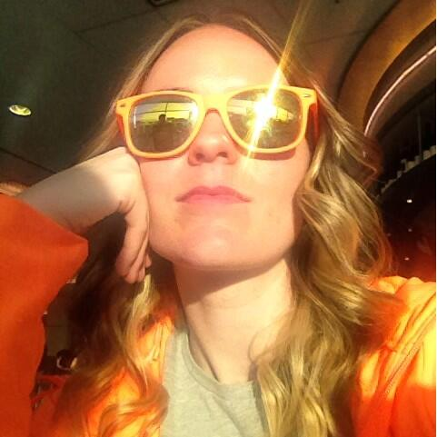 demacmedia: Our Marketing Manager @kt_hudson baskin' in the sun, in #Magento orange waiting for her flight | #MagentoImagine http://t.co/sJ2pk43GSP