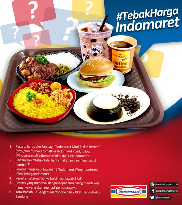 Indomaret On Twitter 6 Pertanyaan Tebak Total Harga Makanan