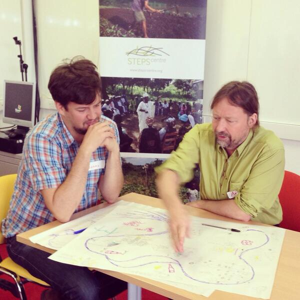 @jonas_torrens and Andy Stirling discuss their personal pathways of development at #stepssum14 http://t.co/oefnK3WahH