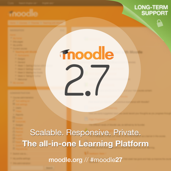 Thanks to the #Moodle community, we're proud to announce our best release yet: #moodle27 http://t.co/P16e1otTHe #lms http://t.co/xrCcXu9Dta