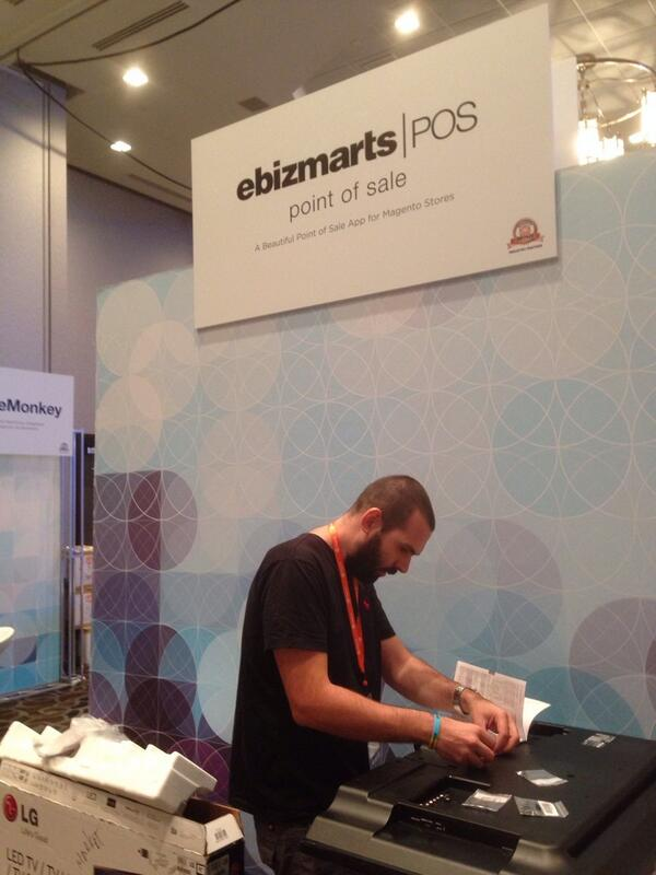 ebizmarts: Setting up the ebizmarts | POS booth at #MagentoImagine http://t.co/5IZAXlPNEz
