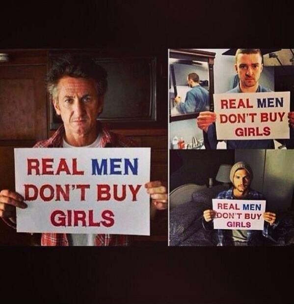 Join the Social Media Campaign to End Trafficking. Real men don't buy girls. #BringBackOurGirls http://t.co/w5qY6oyIFT @RCGhazarian