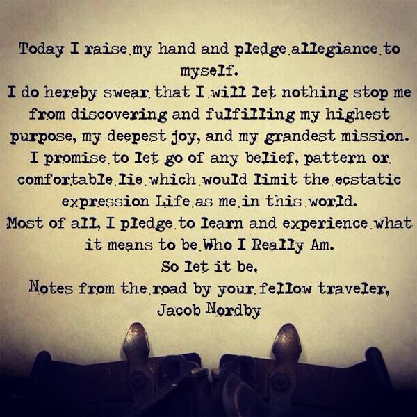 Done 15 yrs ago. Still working' it. RT @JacobNordby: Will you take this pledge or make one up like it for yourself? http://t.co/lvCq1qV1oo