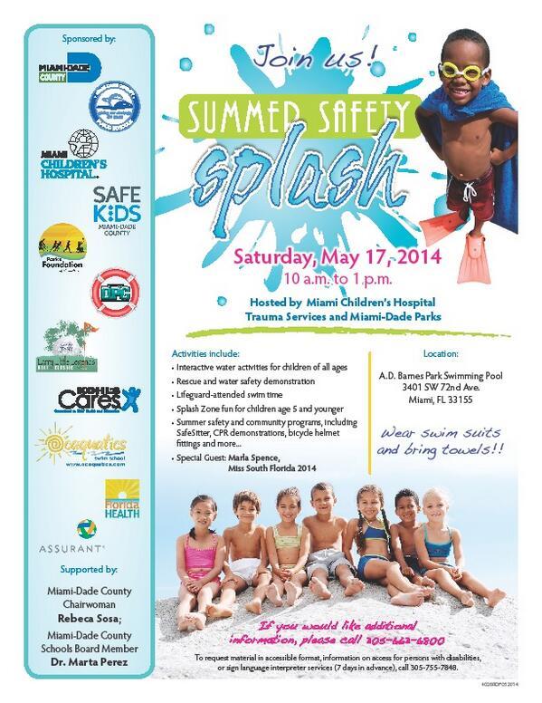 Rebeca Sosa On Twitter Summer Safety Splash Event At A D Barnes