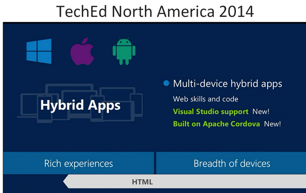 #msteched announcement: Visual Studio preview for Apache Cordova - build for iOS + Android http://t.co/kgJeY6Er44 http://t.co/NVU4CG1UkO