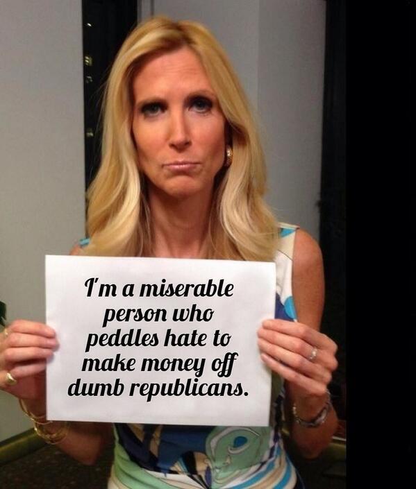 Backlash against Anne Coulter