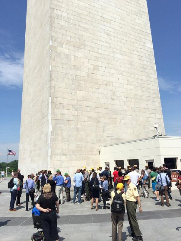 Next in line 4 the top of the freshly reopened #WashingtonMonument! Prepare 4 some staggering view pics. #MonuMeet http://t.co/mhV16DjVJ4