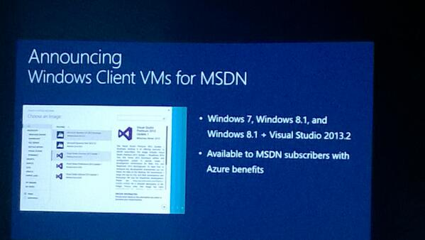 #msTechEd MSDN subscribers can now run Windows client in the cloud (including VS) for Dev/Test. This is a Big News! http://t.co/RonP9T3jAd