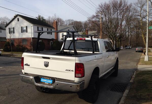 bed single racks pin vantech ladder rack discountramps com truck sided