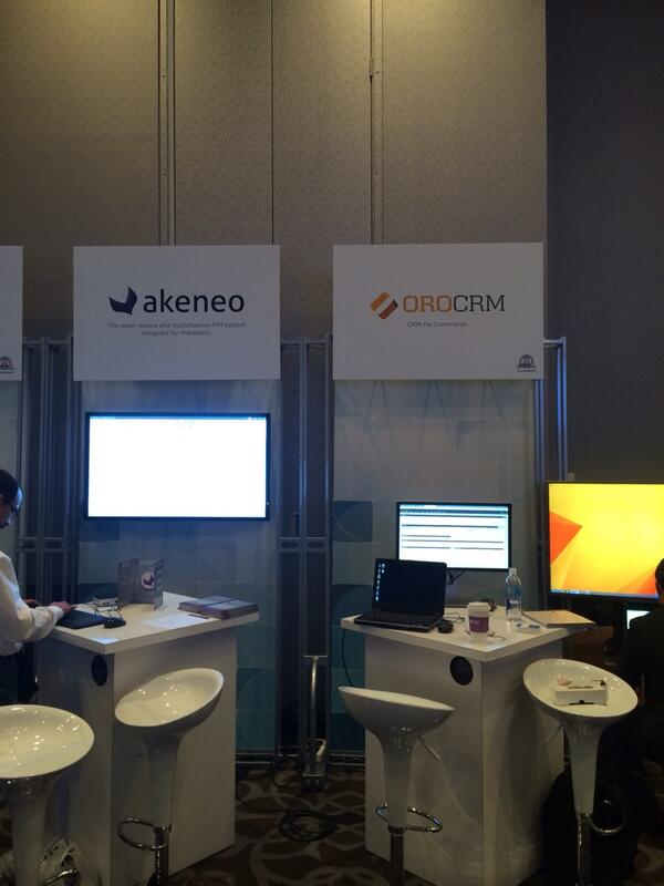 YoavKutner: Setting up the @OroCRM and @akeneopim booths at @magentoimagine agine http://t.co/3dVykYm3Ke