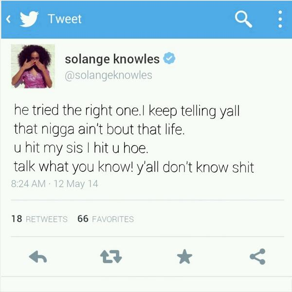 Solange tweet before she deleted it! http://t.co/aW758V51Z4