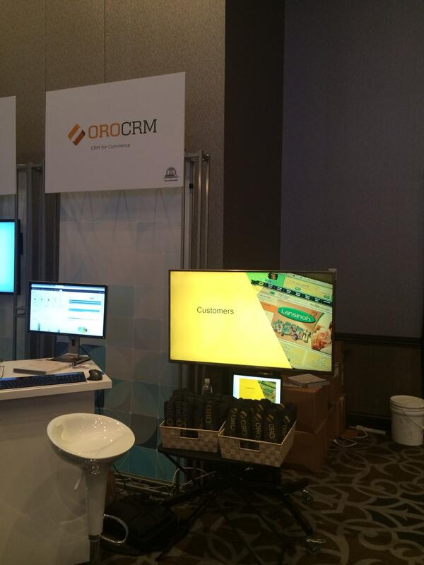 OroCRM: Stop by our booth at #MagentoImagine for your #OroCRM T-Shirt http://t.co/iy5vbXQX7X