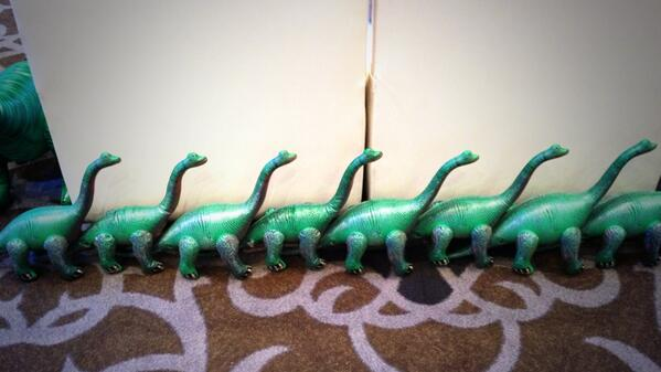 demacmedia: Our friends from @Bronto are here! Gotta love the dinosaurs! #MagentoImagine http://t.co/WQvjYYIydf