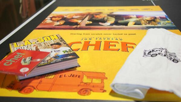 We're giving away 4 #ChefMovie prize packs! RT and you could win:  •Soundtrack •Poster •T-shirt •LA SON by Roy Choi http://t.co/bPLHD04MZK