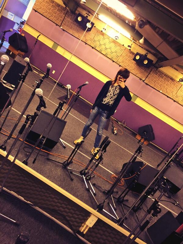 今日は和楽器バンドのリハやでー!スタジオ一番乗り!