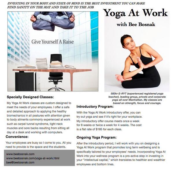 I have a few openings for you #NYC companies. Let me help you bring #yoga to your office http://t.co/ep6cTHBg90 http://t.co/2JLU3amMrY