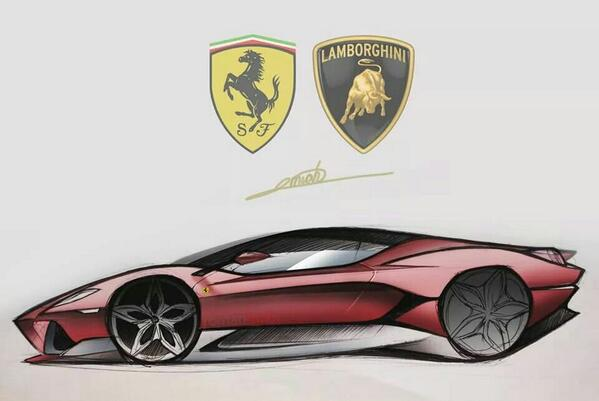 Roman Miah On Twitter Design Sketch Imagine If Ferrari And