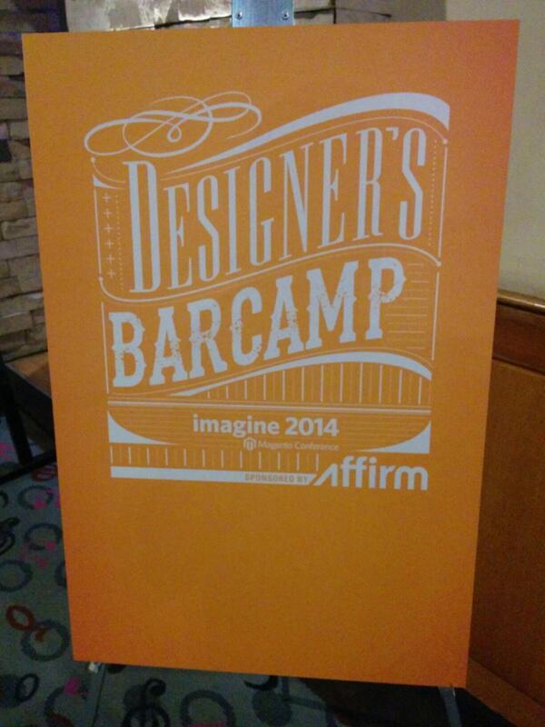 vkerkhoff: Designer's BarCamp sponsored by http://t.co/VmEdY5WXW5 at Fitness Center #MagentoImagine http://t.co/6d3X9uGaws