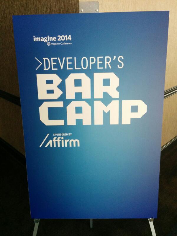 vkerkhoff: Developer's BarCamp sponsored by http://t.co/JP1YUe4yyg at Festival Hall #MagentoImagine http://t.co/ScDYSqk8KQ