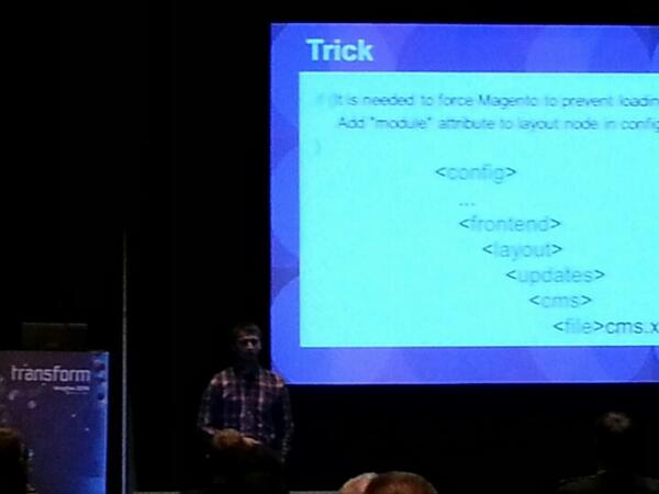 magento_rich: Max giving his presentation at #Magento bar camp. #magentoimagine http://t.co/pgaZwmEsKe
