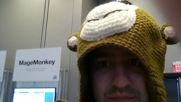 ivanweiler: MageMonkey @MailChimp hats @ebizmarts  #MagentoImagine http://t.co/m0oKcmplR9