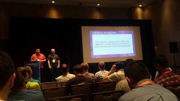 sudopratt: Test driven development in magento #BarCamp #MagentoImagine http://t.co/52ZP4rG23U