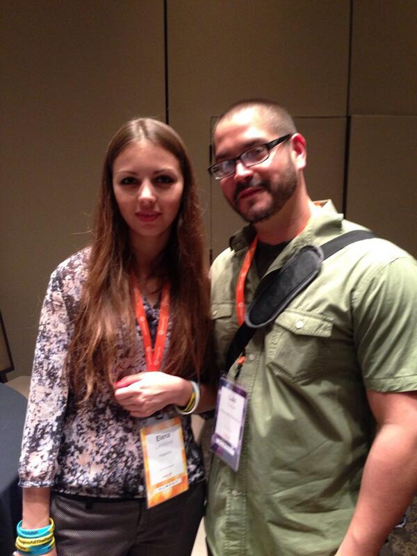 lfcolon62: Photo op with @elena_a_leonova from Magento. #MagentoImagine Always nice to put a face with people you follow. http://t.co/2faGZWwcwj