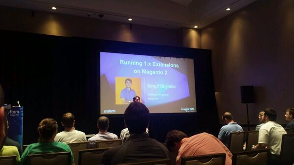 sudopratt: Time to start moving some modules over. #BarCamp #Magento #MagentoImagine http://t.co/TlxbZr3Na3