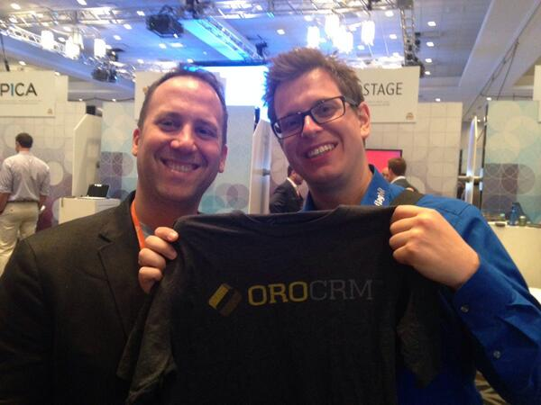 drlrdsen: It's good to see one of the #magento icons @YoavKutner at #magentoimagine promoting his new solution @OroCRM http://t.co/0LfAcVJKDF