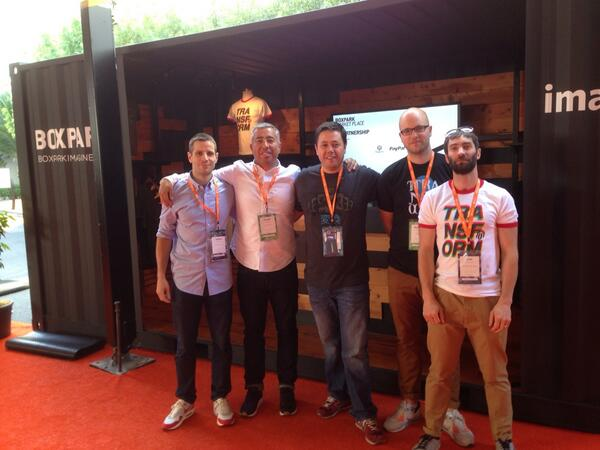 ebizmarts: Roger Wade from @Boxpark, the guys from Moda & @ebizmarts at #MagentoImagine, happy to have Boxpark as a POS customer http://t.co/er8KivDASe
