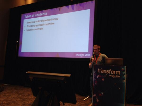 Blue_Bovine: #MagentoImagine Vitally presenting scalability order sharing at Dev bar camp http://t.co/nGtvwp7vCX