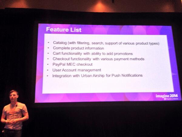 benmarks: Magento's mobile SDK does a lot! #MagentoImagine #BarCamp http://t.co/LPN8UZOHWc
