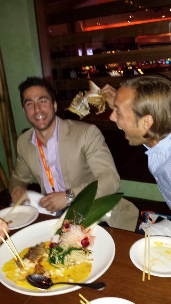Mallikarjunan: Team Sprocket keeping it classy lol. #MagentoImagine #Sushi @gregwise3 @tedammon http://t.co/LHwy8KSqkf