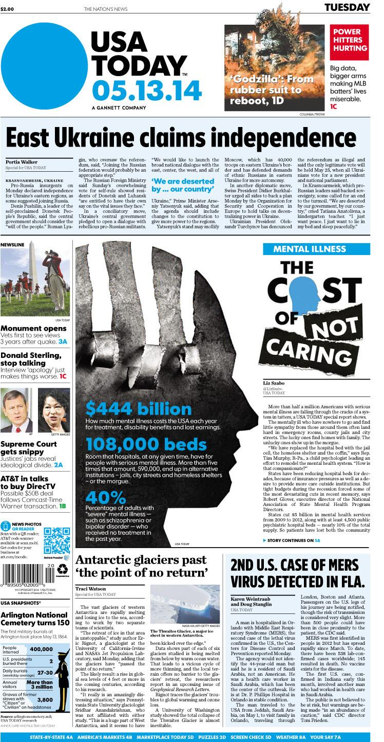 Twitter / USATODAY: #SneakPeek at Tuesday's 1A: ...