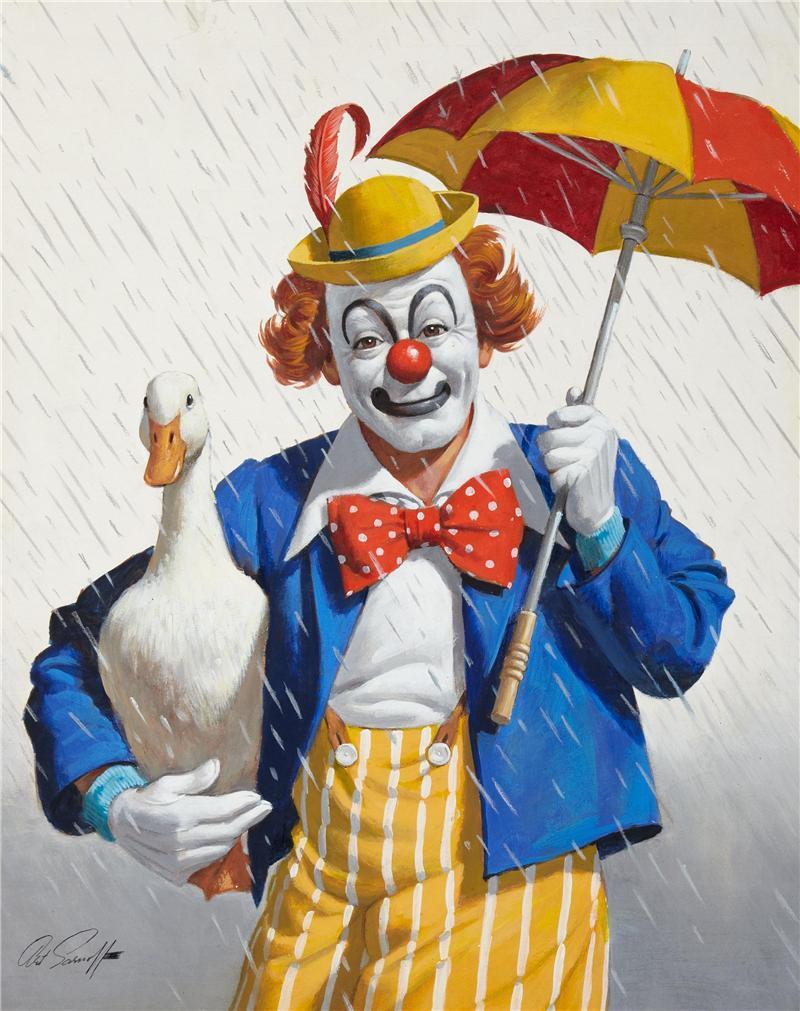 Открытки с клоуном
