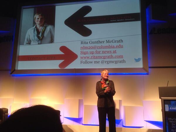 #PBLS14 Rita McGrath takes the stage at PBLS14. 'Why we need to change the way we do business'. http://t.co/oNcHww9it5