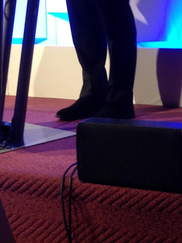 Nice shoes @jon_briggs #pbls14 http://t.co/PNf2K7cU5G